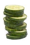 De plakken van de komkommer Stock Foto's