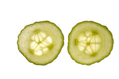 De plakken van de komkommer Royalty-vrije Stock Fotografie