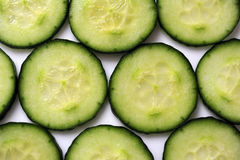 De plakken van de komkommer Stock Afbeelding