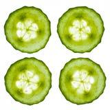 De Plakken van de komkommer Stock Fotografie