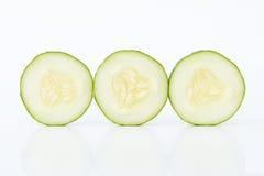De plakken van de komkommer Stock Afbeeldingen