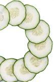 De plakken van de komkommer Royalty-vrije Stock Afbeeldingen