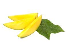 De plakken van de mango Stock Foto's