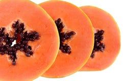 De plakken van de papaja Royalty-vrije Stock Foto's