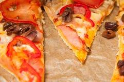 De Plakken van de pizza royalty-vrije stock afbeeldingen