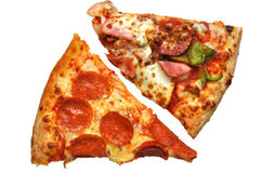 De Plakken van de pizza (met het knippen van weg) Royalty-vrije Stock Afbeeldingen