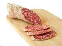 De plakken van de salami Royalty-vrije Stock Afbeeldingen