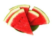 De plakken van de watermeloen Royalty-vrije Stock Afbeeldingen