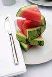 De plakken van de watermeloen Stock Foto