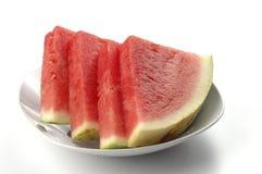 De Plakken van de watermeloen Stock Afbeeldingen
