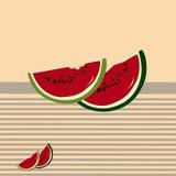 De plakken van de watermeloen Stock Fotografie
