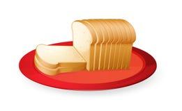 De plakken van het brood Stock Afbeelding