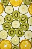 De plakken van het fruit. stock fotografie