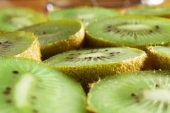 De plakken van het Fruit van de kiwi Stock Afbeelding