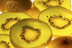 De plakken van het kiwifruit Stock Afbeelding