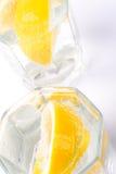De plakken van het sodawater en van de citroen Stock Foto