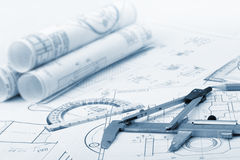 De plan industriële details Royalty-vrije Stock Foto's