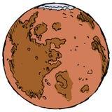 De planeet brengt in de war Stock Foto's