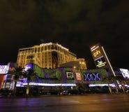 De Planeet Hollywood van Las Vegas bij Nacht Stock Foto's