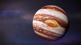 De planeet Jupiter en de sterren van melkweg het 3d teruggeven, worden elementen van dit beeld geleverd door NASA royalty-vrije illustratie
