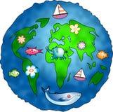 De Planeet van de aard stock illustratie