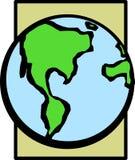 De planeet van de aarde Stock Afbeelding