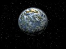 De Planeet van de aarde bij de Hemel vector illustratie