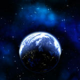 De planeet van de aarde in ruimte stock illustratie