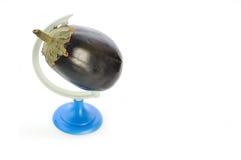 De planeet van de aubergine Stock Afbeeldingen
