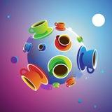 De Planeet van de koffie royalty-vrije illustratie