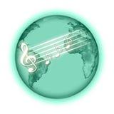 De planeet van de muziek Royalty-vrije Stock Foto's