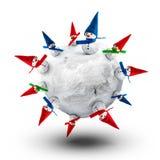 De planeet van de sneeuwman royalty-vrije illustratie