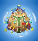 De planeet van de speelplaats Royalty-vrije Stock Foto