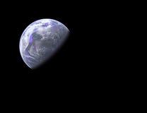 De planeet van Earthlike in ruimte stock foto's