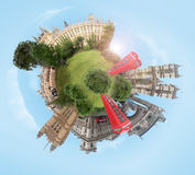 De planeet van Londen Royalty-vrije Stock Foto