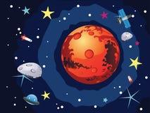 De planeet van Mars stock illustratie