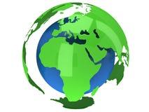 De planeetbol van de aarde 3d geef terug De mening van Afrika Stock Foto