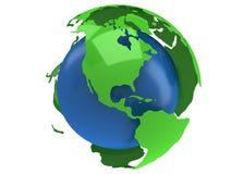 De planeetbol van de aarde 3d geef terug De mening van Amerika Royalty-vrije Stock Afbeeldingen