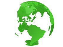 De planeetbol van de aarde 3d geef terug De mening van Amerika Stock Foto's