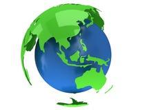 De planeetbol van de aarde 3d geef terug De Mening van China Stock Fotografie