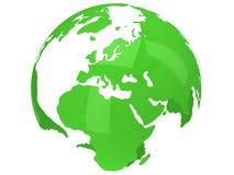 De planeetbol van de aarde 3d geef terug De mening van Europa Stock Afbeeldingen