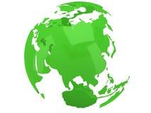 De planeetbol van de aarde 3d geef terug De mening van Rusland Royalty-vrije Stock Foto's