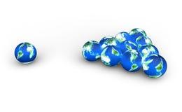 De planeten van de aarde als een biljartballen stock illustratie