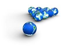 De planeten van de aarde als een biljartballen royalty-vrije illustratie