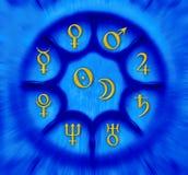De planeten van de astrologie royalty-vrije illustratie