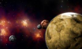 De planeten van Extrasolar Royalty-vrije Stock Afbeelding