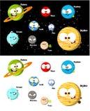 De Planeten van het beeldverhaal royalty-vrije illustratie