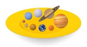 De planeten van het zonnestelsel stock illustratie
