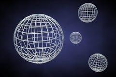 De planeten van Wireframe Stock Afbeeldingen