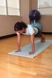 De plank stelt opdrukoefening stock afbeelding